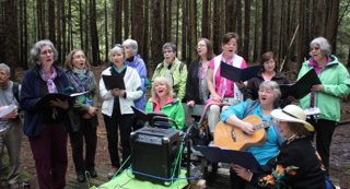 Sacred Web Singers, Burns Bog Pilgrimage, April 2015 (photo Gerard Cowan)